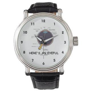 Here's An Eyeful (Eye Anatomy Humor) Wristwatches