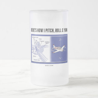 Here's How I Pitch, Roll & Yaw (Inner Ear Anatomy) 16 Oz Frosted Glass Beer Mug