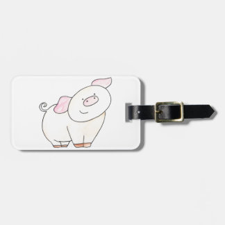 Here's looking at you Pig cutout by Serena Bowman Luggage Tag