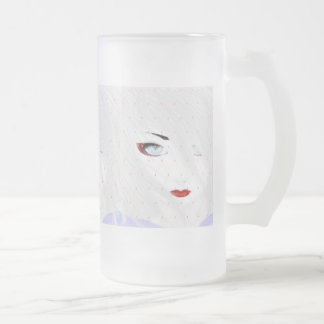 Here's Looking At You, Snow Geisha Frosted Glass Beer Mug