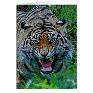 Here's Looking At You Tiger Card