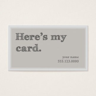 """Here's My Card"" Networking Groupon Business Card"