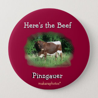Here's the Beef Pin-customize 4 Inch Round Button