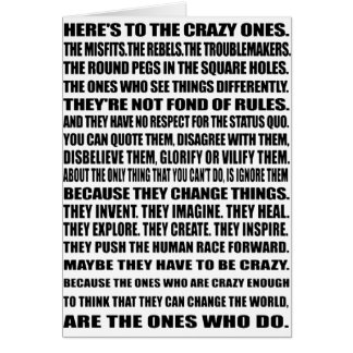 Here's To the crazy ones! Card