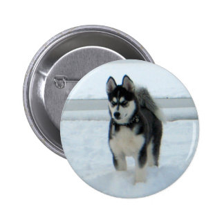 Here's Trouble 2 Inch Round Button