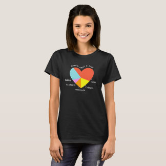 Here's What I Love DANCE Heart Graph T-Shirt