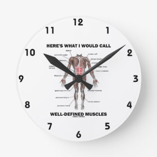 Here's What I Would Call Well-Defined Muscles Round Clock