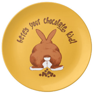 Here's Your Chocolate Rabbit Funny Easter Porcelain Plates