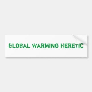 Hérétique de réchauffement climatique autocollant de voiture