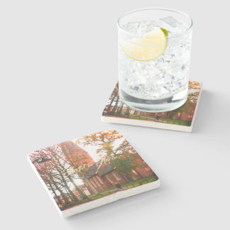 Herfst in Haren Dorpcentrum Netherlands Holland Stone Coaster
