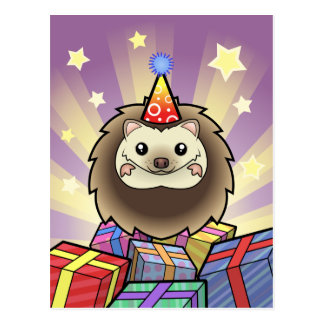 Hérisson de pygmée d'anniversaire cartes postales