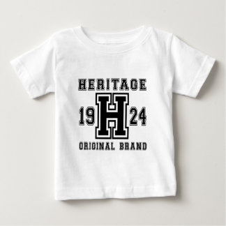 HERITAGE 1924 ORIGINAL BRAND BIRTHDAY DESIGNS BABY T-Shirt