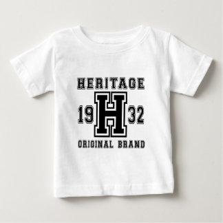 HERITAGE 1932 ORIGINAL BRAND BIRTHDAY DESIGNS BABY T-Shirt