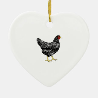 Heritage Breed Laying Hen - Barred Plymouth Rock Ceramic Ornament
