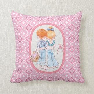 """Heritage """"Fabien & Fleur"""" Pink Throw Pillow"""