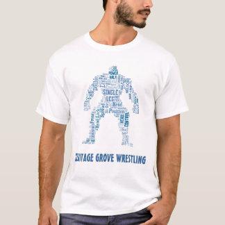 Heritage Grove Wrestling Shades of Blue Design T-Shirt