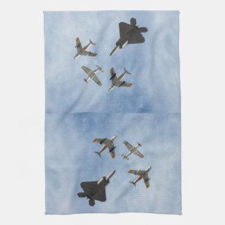 Heritage - P-51 Mustang,F-86-F Saber,F-22A Raptor Kitchen Towel