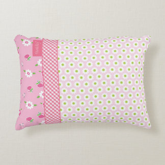 """""""Heritage"""" Pink Floral Accent Pillow"""