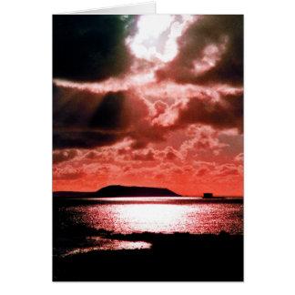 HERM ISLAND AT SUNSET CARD