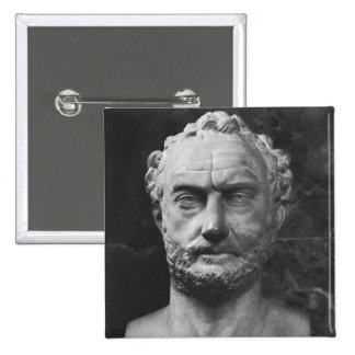 Herm of a man, said to be Thucydides 2 Inch Square Button