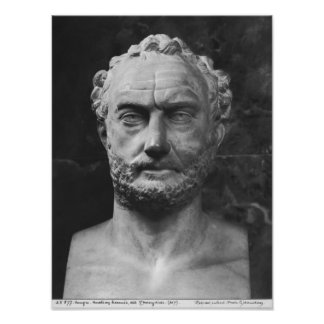 Herm of a man, said to be Thucydides Poster