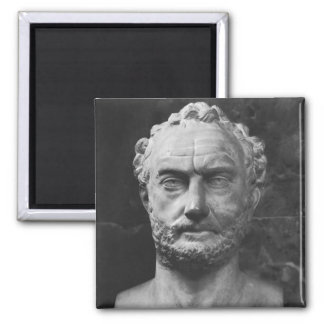 Herm of a man, said to be Thucydides Square Magnet