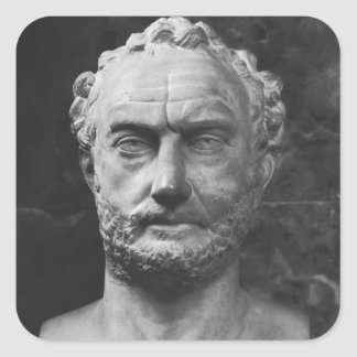 Herm of a man, said to be Thucydides Square Sticker
