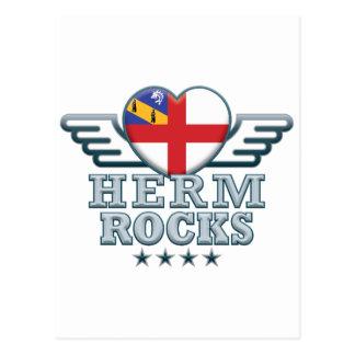 Herm Rocks v2 Postcard