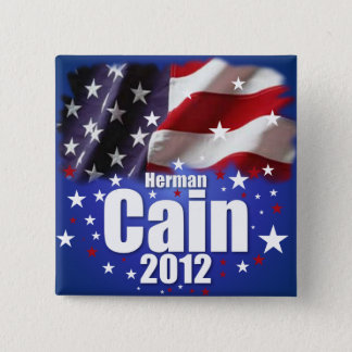 Herman Cain 2012 2 Inch Square Button