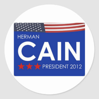 Herman Cain 2012 Classic Round Sticker