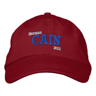 Herman Cain 2012 Embroidered Hat