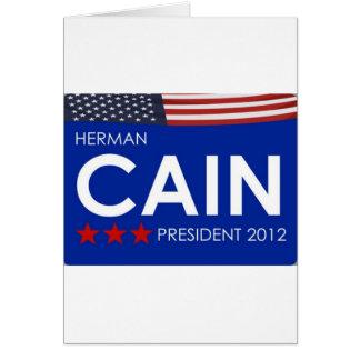 Herman Cain 2012 Greeting Card