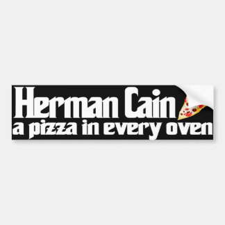 Herman Cain 2012 pizza bumper sticker