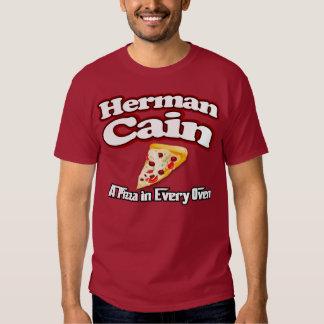 Herman Cain 2012 pizza shirt