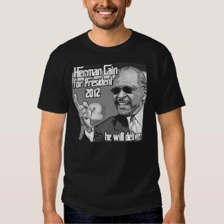 Herman Cain 2012 President Tshirt