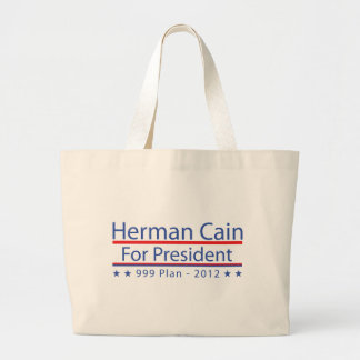 Herman Cain 999 Plan Canvas Bags