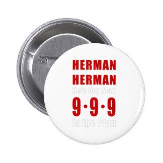 Herman Cain 999 Plan Pinback Buttons