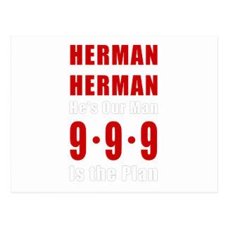 Herman Cain 999 Plan Postcard