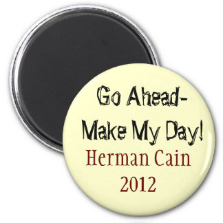Herman Cain button 2 Inch Round Magnet
