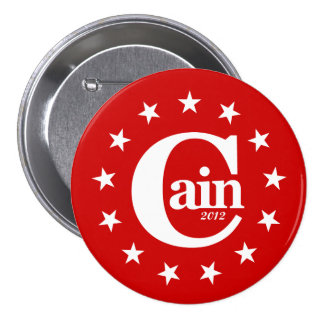 "Herman Cain for President 2012 3"" Campaign Button"