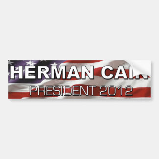 herman cain for president 2012 bumper sticker