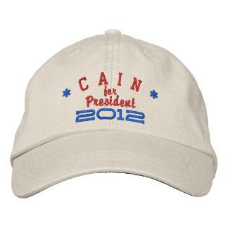 Herman Cain for President 2012 Embroidered Baseball Cap