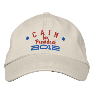 Herman Cain for President 2012 Embroidered Hat