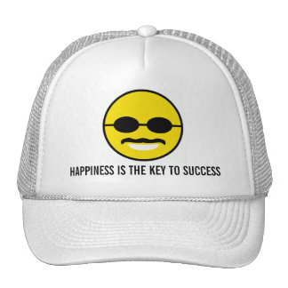 "Herman Cain for President 2012 ""Smiley"" Happiness Trucker Hat"