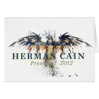 Herman Cain for President Greeting Card
