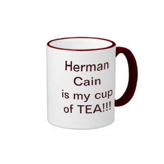 Herman Cain for President Ringer Coffee Mug