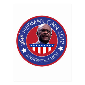Herman Cain for US President 2012 Postcard