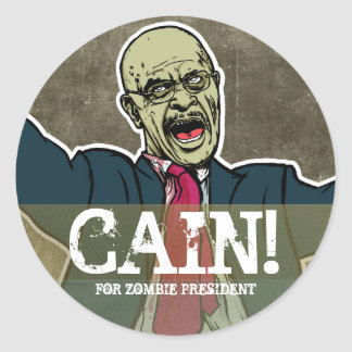 Herman Cain for Zombie President  Sticker