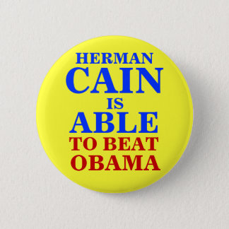 herman cain is able 2012 2 inch round button