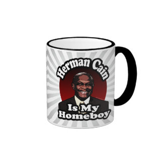 Herman Cain is My Homeboy, Retro Style Mugs